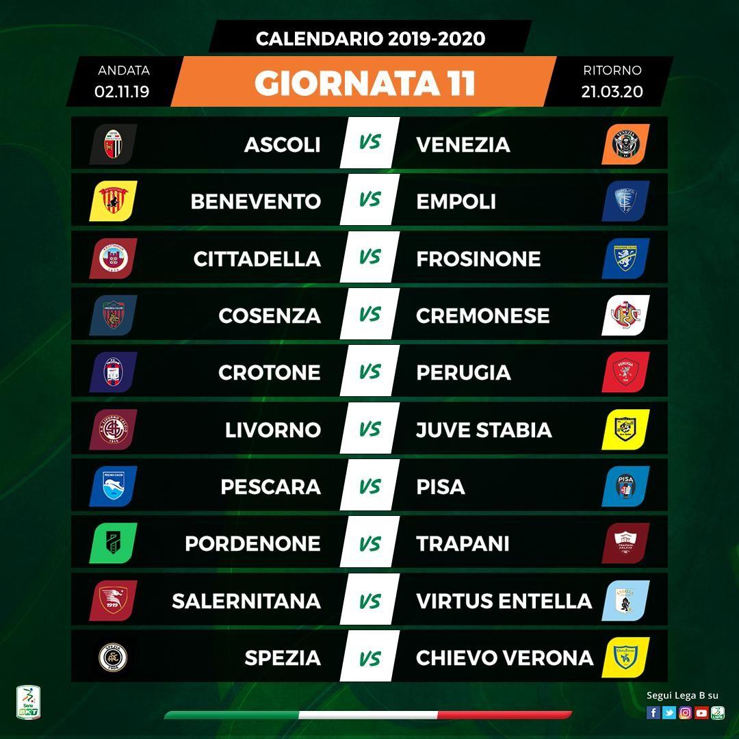 Calendario Serie B 2020 15.Serie B Calendario