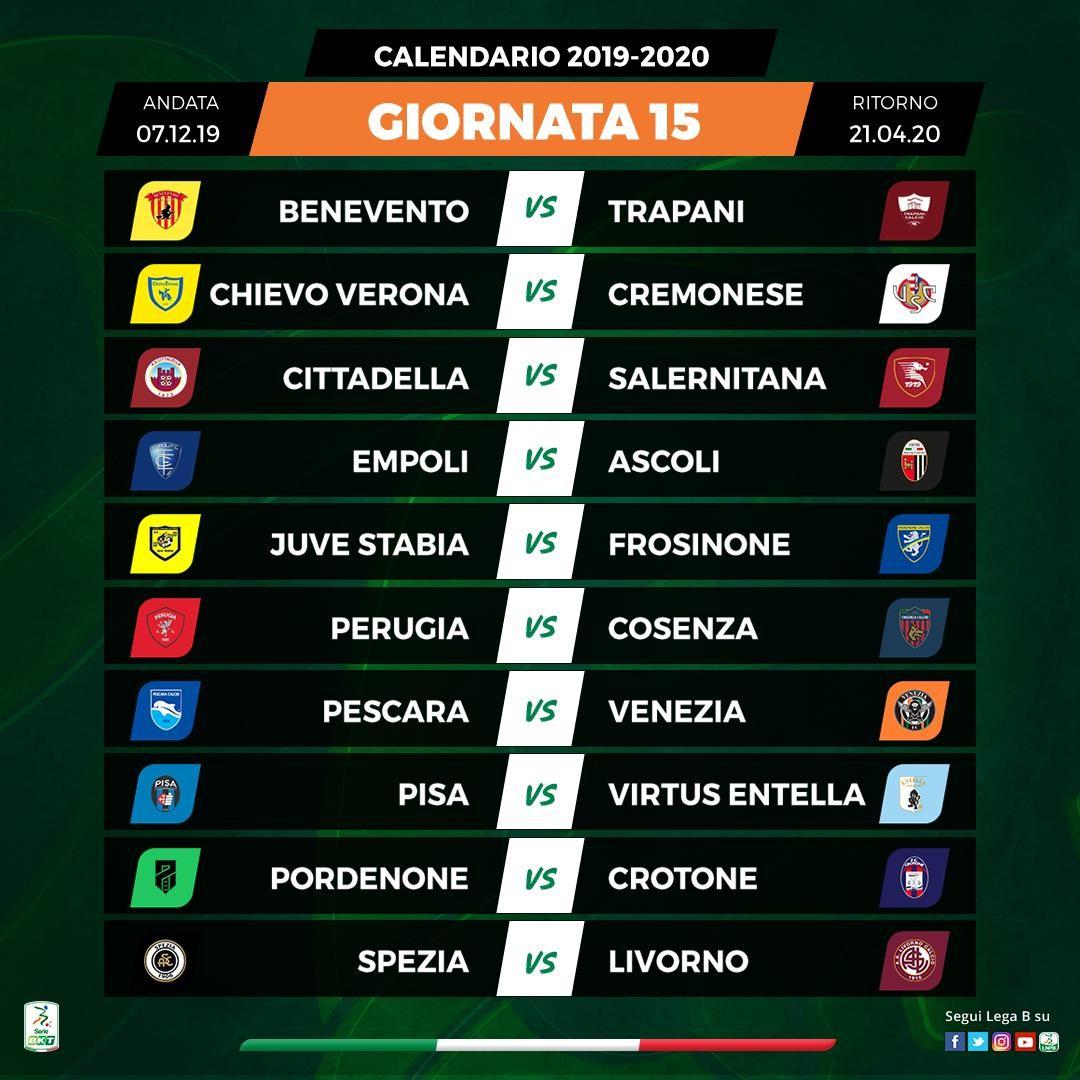 Calendario 15 Giornata Serie A.Serie B Il Calendario Del Perugia Giornata Per Giornata