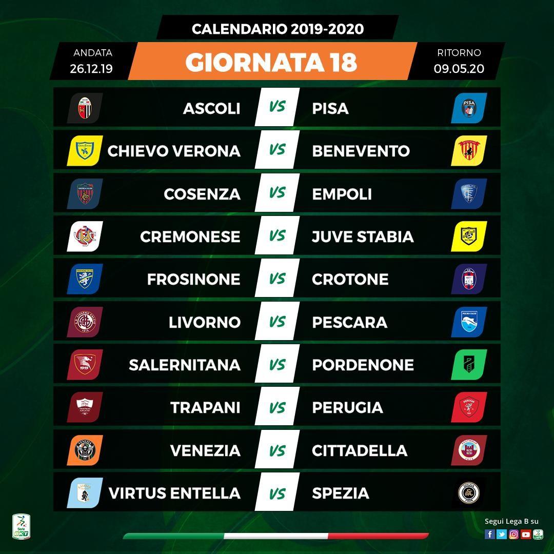 Calendario Serie B 18 19.Serie B Il Calendario Del Perugia Giornata Per Giornata